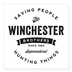 SUPERNATURAL Winchester Bros black - more nice SPN Designs available!