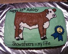 Show steer By jandabrowning on CakeCentral.com