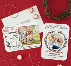 Personalized Printable Christmas Photo Cards   Free printable cards that you can customize for Christmas.