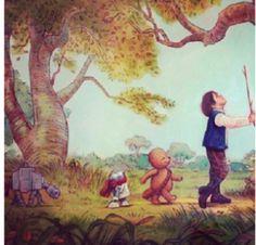 Winnie the Pooh Star Wars mashup
