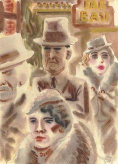 GEORG GROSZ  New York Types (1934)