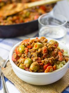 Vegan Picadillo - This vegan picadillo is made with spiced lentils ...