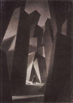 "From Lovecraft Historical Society silent film ""The Call Of Cthulhu"". Shaun Tan, Hans Poelzig, Tableaux Vivants, Inspiration Art, Illustration Art, Illustrations, Louise Brooks, Call Of Cthulhu, Charlie Chaplin"
