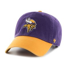 Minnesota Vikings Clean Up Two-Tone Purple 47 Brand Adjustable Hat -  Detroit Game Gear 25ba905bf