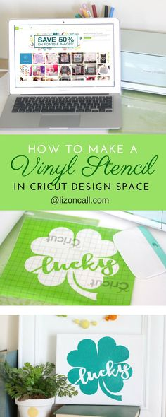 If you've ever wondered how to make a vinyl stencil, check out this easy tutorial in designing one using Cricut Design Space.