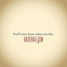 You'll never know unless you dive. Lay out in 2017. #americasbrand #americasbrand www.baseballism.com