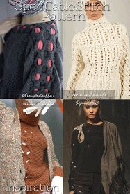 Needlecrafts - Open Cable Stitch Pattern                Large Image |  here   Side Images |  style.com      Ever since Mark Fast and Tes...