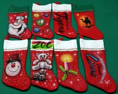 Custom airbrush stockings