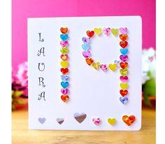 Teenager Grandaughter Daughter Friend Rainbow Unicorn 19th Birthday Card