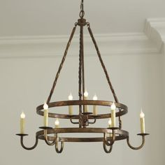 Ella 9 Light Chandelier - mediterranean - chandeliers - - by Ballard Designs