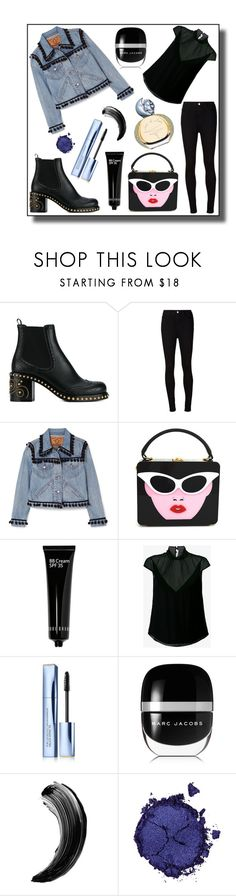 """""""Art Basel"""" by neweditorial ❤ liked on Polyvore featuring Miu Miu, AG Adriano Goldschmied, Marc Jacobs, Bobbi Brown Cosmetics, Theyskens' Theory, Estée Lauder, Sisley and Pat McGrath"""
