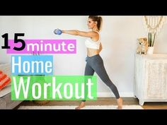 7/10/17 15 Minute At Home Full Body Workout | Rebecca Louise - YouTube
