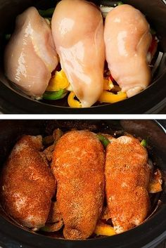 Slow Cooker Chicken Fajitas | 15 Crock Pot Recipes That Are Actually Healthy