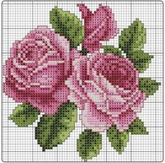 This Pin was discovered by ilk Cross Stitch Needles, Cross Stitch Rose, Cross Stitch Flowers, Cross Stitching, Cross Stitch Embroidery, Hand Embroidery, Embroidery Patterns, Cross Stitch Patterns, Stitch Cartoon