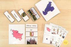 Deutsche Bundesländer passend zum Deutschland-Puzzle in Montessorifarben