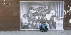 Hommage à Camille Lepage à Lyon Photo de l' Affiche Copyright: Camille Lepage Photos du collage Copyright: Eric Le Roux / 68 Arts Prod. #Dysturb