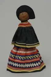 Unknown Seminole Maker Doll representing a Seminole Woman in 19th century style clothing Hood Museum of Art, Dartmouth College: The Wellington Indian Doll Collection Gift of Barbara Wellington Wells 987.35.26745