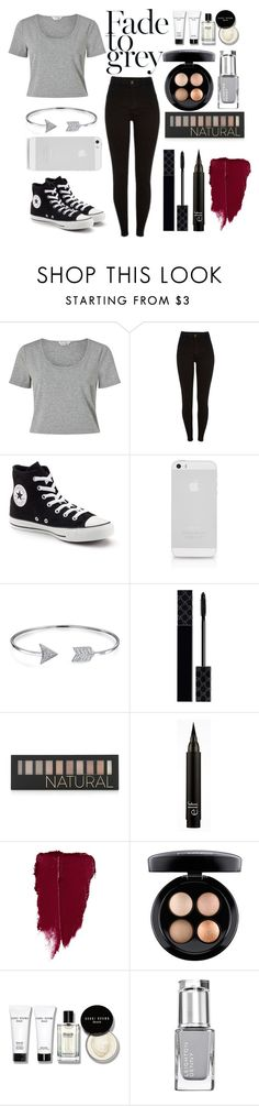 """""""Beautiful Grey"""" by exotic-demon-wolf ❤ liked on Polyvore featuring Miss Selfridge, Converse, Bling Jewelry, Gucci, Forever 21, MAC Cosmetics and Bobbi Brown Cosmetics"""