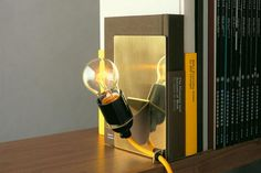 lighting bookends - Martin-Löf x Monocle Library Lamp