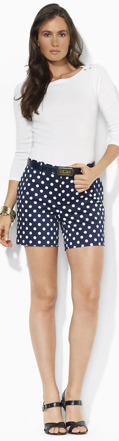 Ralph Lauren Polka Dot Cotton Shorts