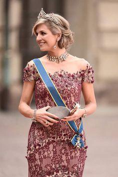 Máxima bij koninklijk huwelijk in Zweden