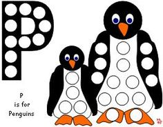Penguin dot painting or magnet page