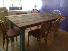 handmade pine dining room table!  my-hipster-home