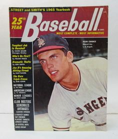 baseball magazines 1961 | 1965 Street & Smith Yearbook. Angels DEAN CHANCE on cover. tight and ...