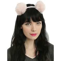 Hot Topic Light Pink Fluffy Pom Pom Headband ($8.01) ❤ liked on Polyvore featuring accessories, hair accessories, multi, hair band headband, hair band accessories, head wrap headband, head wrap hair accessories and headband hair accessories