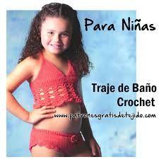 Resultado de imagen para trajes de baño crochet niña