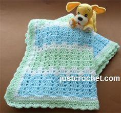 Free baby crochet pattern for pastel blanket http://www.justcrochet.com/pastel-blanket-usa.html #justcrochet #patternsforcrochet