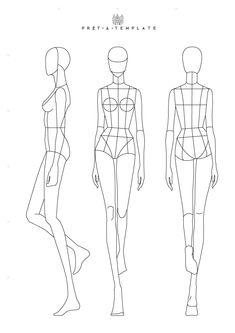 S1. EP3. Fashion Design Process Using Fashion Templates Fashion Illustration Poses, Fashion Illustration Template, Fashion Sketch Template, Fashion Figure Templates, Fashion Design Template, Clothing Templates, Design Templates, Dress Design Drawing, Dress Design Sketches