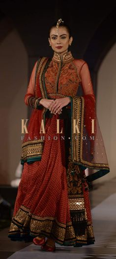 Must have Bollywood Style! Find a style match to the celebrity look of your choice @ http://www.kalkifashion.com/lehengas.html