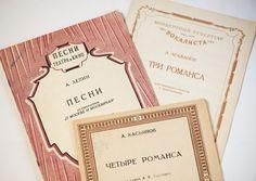 Old romances music notebooks from Soviet time set 3 by SovietEra