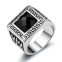 JewelryWe Gioielli anello da uomo donna acciaio inox corona inciso forma di quadrato ,argento nero Bands JewelryWe http://www.amazon.it/dp/B00L8S8A14/ref=cm_sw_r_pi_dp_.iQywb1NMW06A