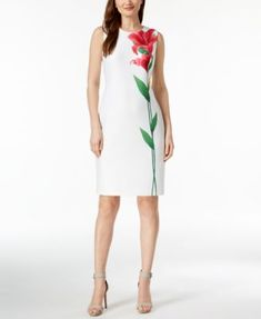 Calvin Klein Scuba Sheath Dress | macys.com