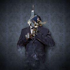 """Tableau numérique """"Mister Blue"""" par Robert Palmer"""