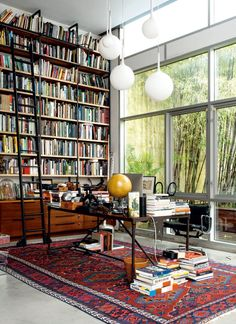 31 Lovely Bookshelves Design Ideas For Your Living Room Decor - Living room furniture plays an important role in giving a cohesive and seamless look to your home decor. If you place a beautifully-crafted furniture . Home Library Design, Home Office Design, Home Interior Design, Cozy Home Library, Attic Library, Library Wall, Home Library Rooms, Modern Library, Vintage Interior Design