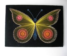 Butterfly String Art by SwankyLadyVintage on Etsy