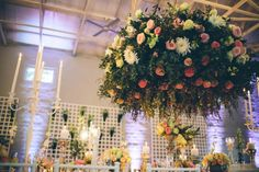 Beautiful floral chandelier | Knot Just Pics