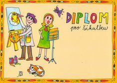 Diplom pro šikulku Classroom, Kids, Character, Carnivals, Children, Boys, Children's Comics, Boy Babies, Lettering