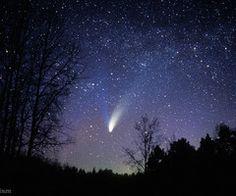 Wow night sky #comet
