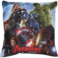 "Cuscino decorativo ""Age Of Ultron - Team"" di #Avengers con stampa. Materiale: 100% poliestere. Dimensioni: 40 x 40 cm circa."