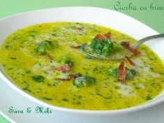 Ciorba cu broccoli Soup Recipes, Cooking Recipes, Healthy Recipes, Romanian Food Traditional, Good Food, Yummy Food, Tasty, Arabic Food, Pressure Cooker Recipes