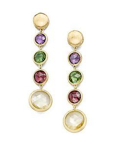 Marco Bicego - Jaipur Semi-Precious Multi-Stone & 18K Yellow Gold Drop Earrings
