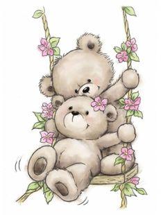 Motivstempel Clearstamp Bär Bären Schaukel Bears on Swing Wild Rose Studio Motif Stamp Clearstamp Bear Bear Swing Bears on Swing Wild Rose Studio Illustration Mignonne, Cute Illustration, Photo Ours, Art D'ours, Images Disney, Teddy Bear Images, Art Mignon, Bear Pictures, Bear Cartoon