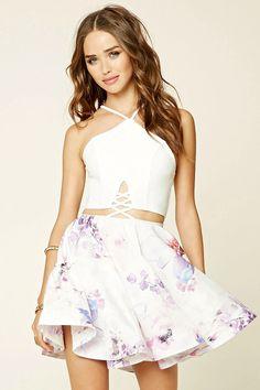 A woven A-line dress by Selfie Leslie #f21brandedshop