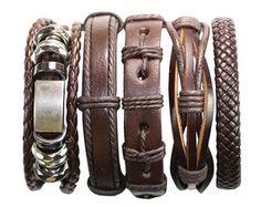 Estas pulseras de cuero Premium están hechas de cuero marrón oscuro. Manifiestan un cierto encanto rústico y aspecto auténtico. Tienes todo 3 pulseras individuales. Esto es lo que dijo un cliente reciente. Pulseras impresionantes ~ exactamente lo que estaba buscando. Muy bien hecho. ¡Estos van a mirar increíble en mi chico guapo! Envío muy rápido y un dulce regalo dentro. ¡Encantadora tienda a hacer negocios con! ❤️ Color: como imágenes. Tamaño: Aprox. 6.5 dentro de la circunferencia cuan...
