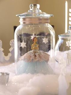 Sweet Little table decor. Could have wings and be an angel for Christmas