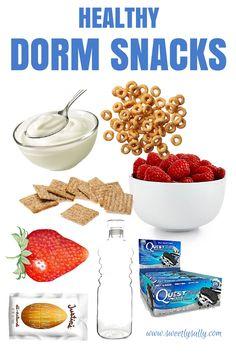 Healthy Dorm Room Snacks - Sweetly Sally - www.sweetlysally.com